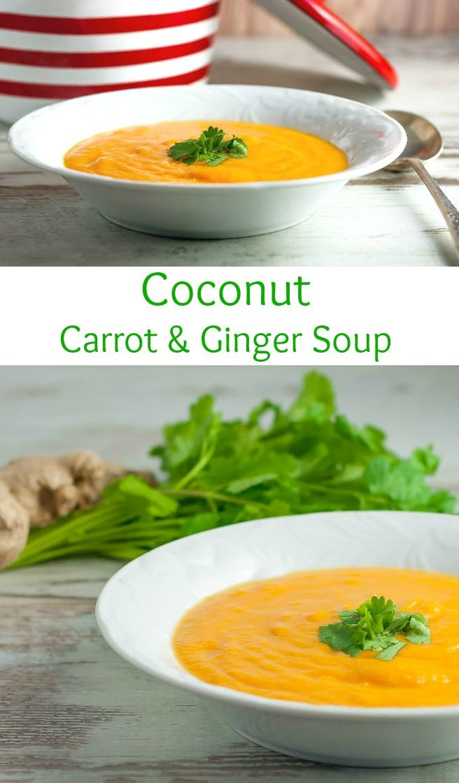 Carrot & Ginger Soup! Sweet meets spicy – sweet potato and carrots ...