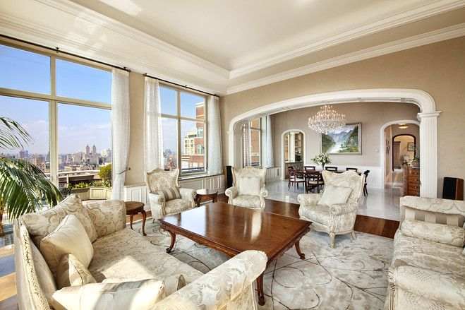 A couple formerly in the lace-manufacturing business created this 14.8 million penthouse on the Upper East Side by combining two apartments. (Credit: Michael Weinstein): House Locations, Manhattan Penthouses, Dreams House, 148M Penthouses, Sprawl Penthouses, Luxury Home, New York Penthouses, Extraordinari Sprawl, 87Th St.