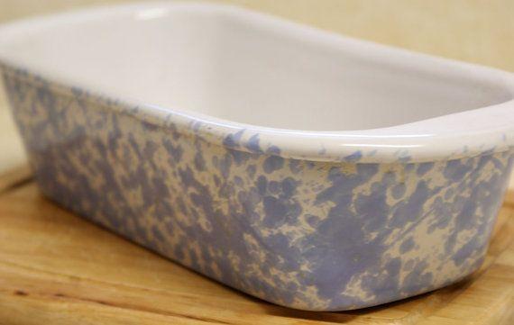 bennington morning glory pottery | Morning Glory Blue Agate Bennington Pottery Basic Loaf Pan 1874 DG 5 1 ...