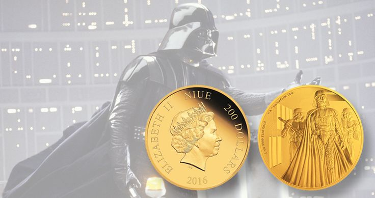 Darth Vader shines in silver, gold on Niue coins from New Zealand Mint