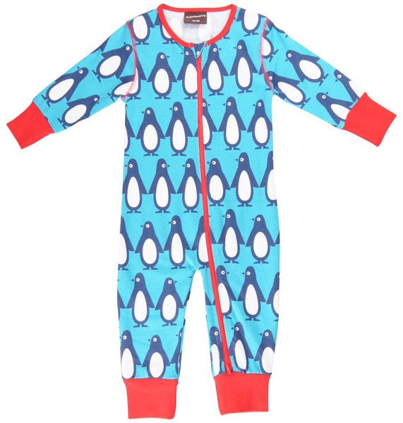 Maxomorra Penguins Sleepsuit