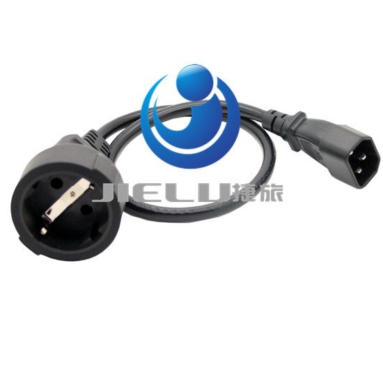 44.56$  Watch here - http://ali3wt.worldwells.pw/go.php?t=32679274097 - IEC 320 C14 3Pin Male Plug to CEE 7/7 European SCHUKO Socket Female Adapter Cable,50CM EURO UPS/PDU Power Cord,10 pcs 44.56$