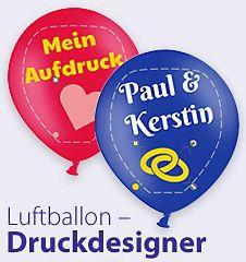 Die Ballondrucker: Luftballons, Herzluftballons, Deko-Sets | Luftballons bedrucken | Ballons kaufen | Luftballonshop |Herzballon