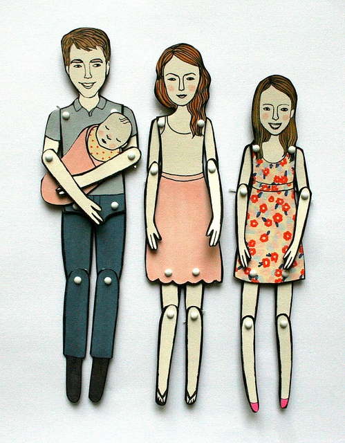 Paper doll portraits by jordan grace