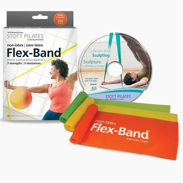 STOTT PILATES®Non Latex Flex-Band® - 3 Pack with DVD