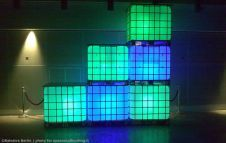 Lights in 1000L ibc container
