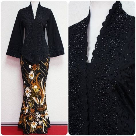 Kebaya Karla is a short kebaya full with beads and beautiful embroidery. Paired with mermaid skirt with gorgeous sequins work, this kebaya is versatile for any functions!