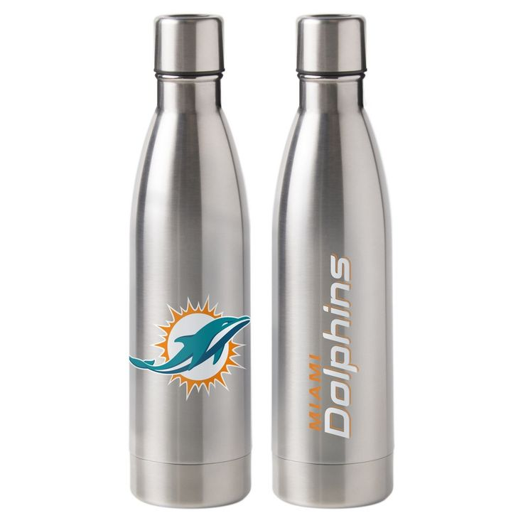 NFL Miami Dolphins 18oz Stainless Water Bottle