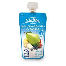 Wattie's Pear, Mixed Berries & Banana | Forbaby.co.nz