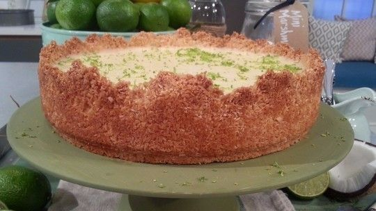 John Whaite's lime and coconut cheesecake