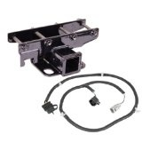 Rugged Ridge 11580.51 Black Receiver Hitch Kit with Wiring Harness for Jeep JK Wrangler