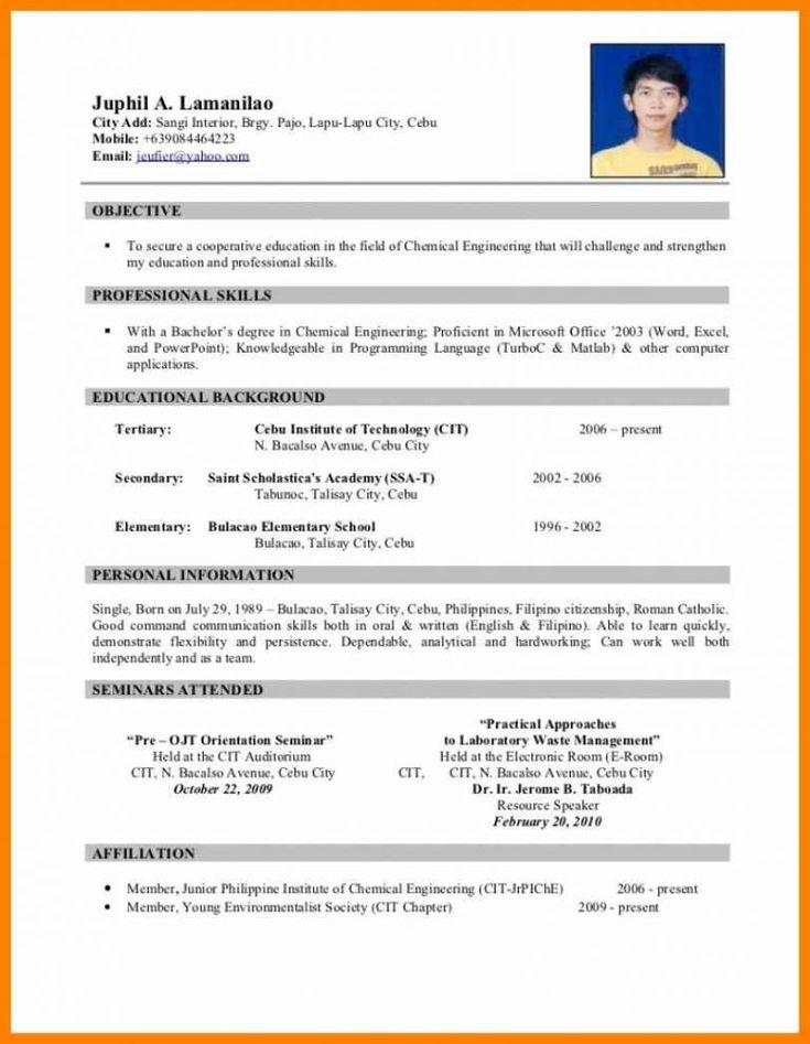13 Philippine Biodata Form Unmiser Able Free Resume