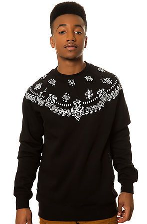 Crooks and Castles Sweatshirt Squad Life in Black - Karmaloop.com Save @20% use Rep Code : TORTIV