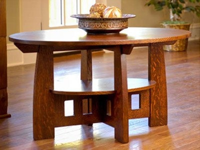 Craftsman style coffee table. $875.00, via Etsy.