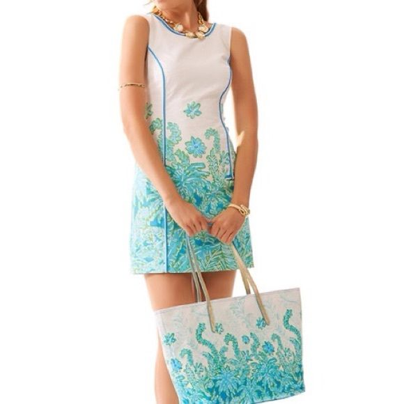 """Lilly Pulitzer dress NWT- LP Carlow shift dress, print is """"Palm party"""". *Lowest price listed!* Lilly Pulitzer Dresses"""