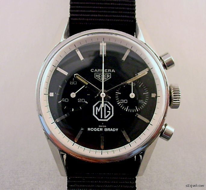 Vintage Heuer Carrera for MG Cars. $4,552