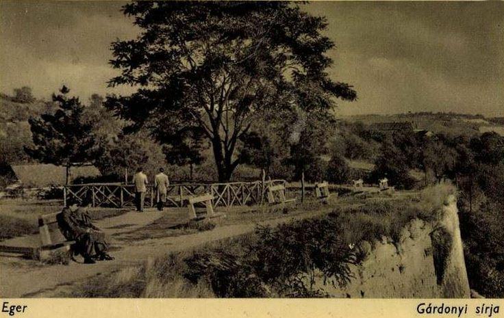 Egri vár, Gárdonyi Géza sírja (képeslap)