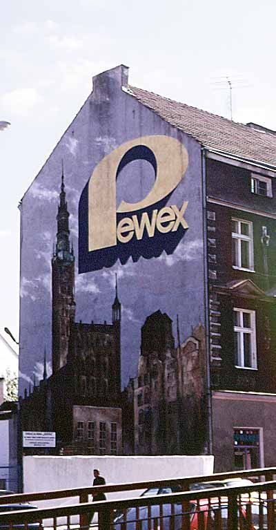 Pewex  was the name for the interior export (nice new-speak) shops where Poles could buy otherwise unobtainable goods coming from capitalist hell. Only hard currency was accepted. It was a clever communist way for getting dollars from the citizen.