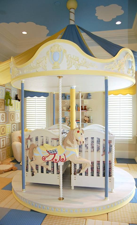 Best Magical Twin Nursery Love this idea if I only had the big room for it
