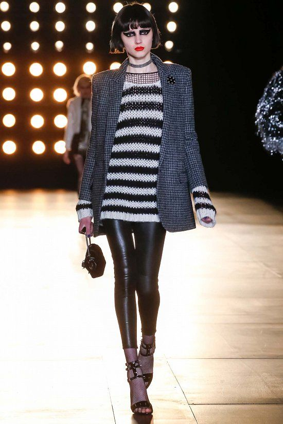 Saint Laurent fall-winter 2015-2016 #PFW #fashionwomancom #fashion #moda