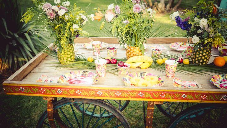 Fiesta tropical de La Tienda de Renata. Una tienda de decoración para bodas, fiestas y hogar. Tropical Party