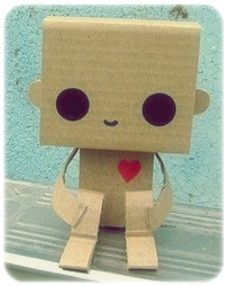 Cute Robot with cute eyes and a cute little heart!
