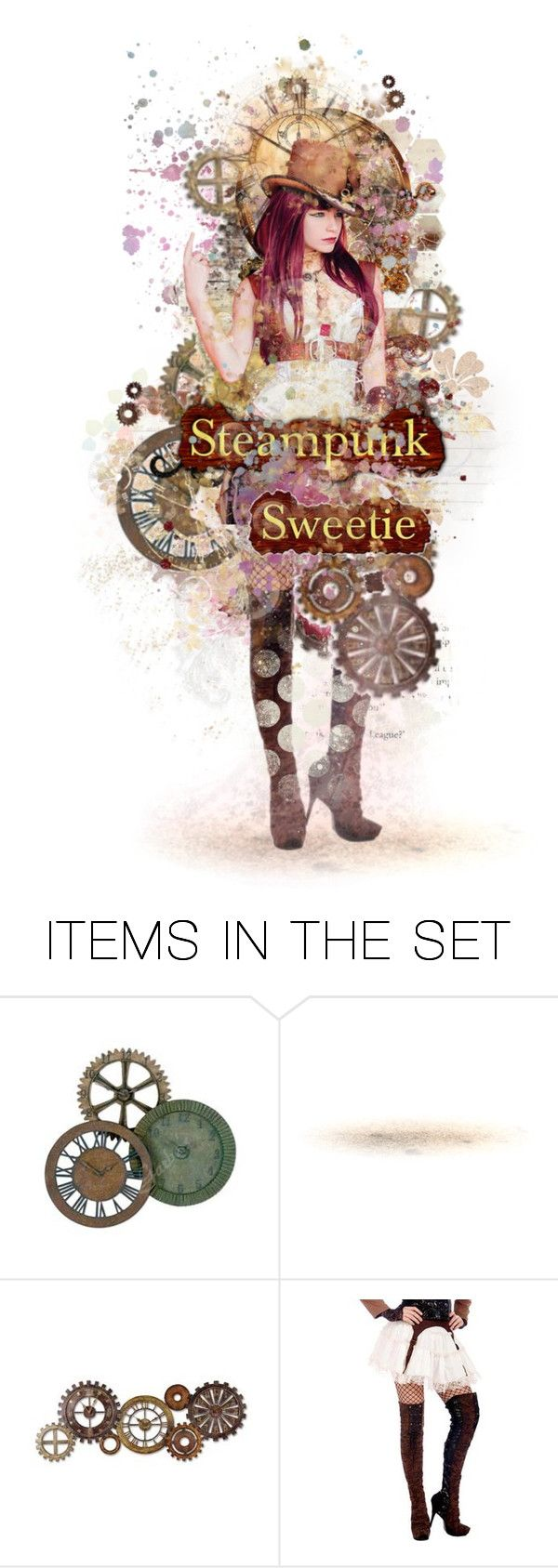 Sweetie, It's Called Steampunk by girlinthebigbox on Polyvore featuring art, doll, Group, fantasy, steampunk and steampunksweetie