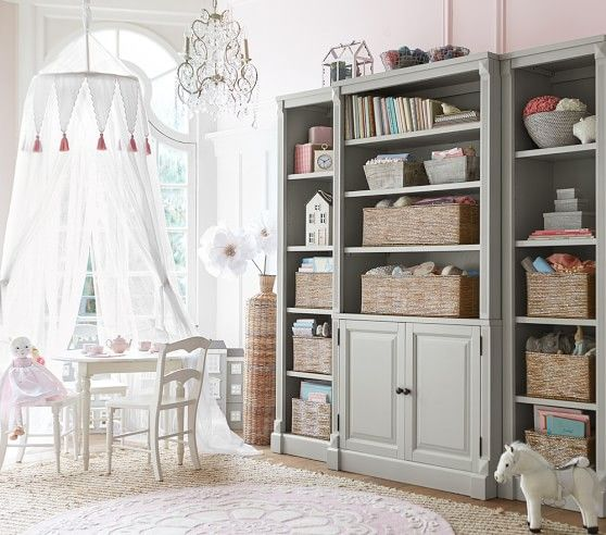 A beautiful playroom made better with Silver Rope Storage.