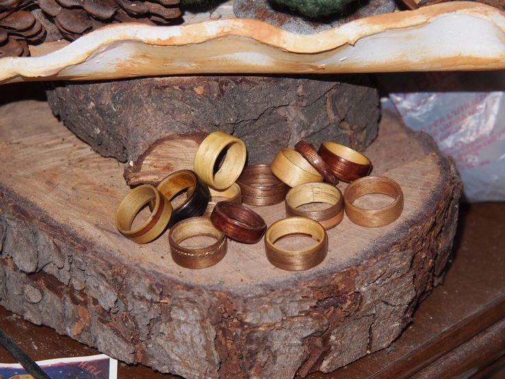 i miei anelli in legno