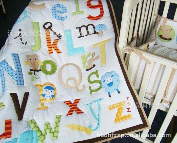 100% cotton Baby Quilt Play Mat Nursery Bedding Applique Embroidery Butterfly Mix Boy Girl Patterns Order Baby Crib Cot Bedding