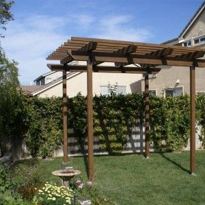 Small Painted Outdoor Pergola , Small Pergola Designs In Landscaping And  Outdoor Building Category