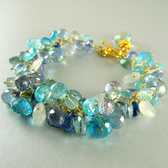 Summer Fashion Gemstone Bracelet by SurfAndSand on Etsy