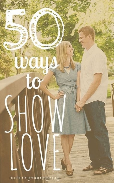 If you ever feel that your marriage could be stronger, or you feel your relationship needs a re-charge (which it always does), pick one of these 50 ways to show love to try today!