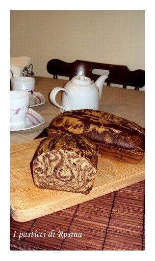 Plumcake marmorizzato al pistacchio e cacao