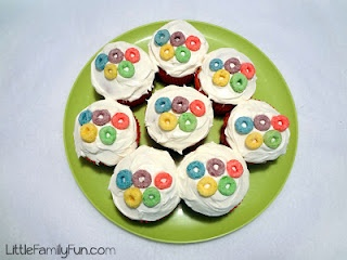 little olympic cupcakes, love these!
