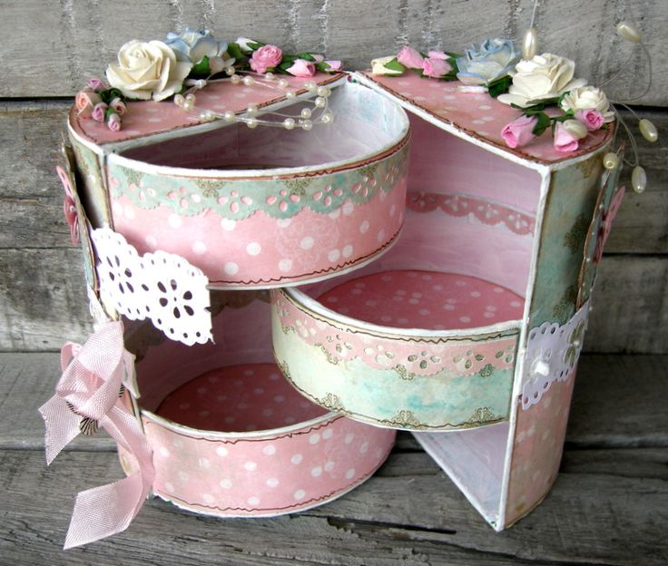 pretty jewellery box! I would love to know how to make this! :) I want this !