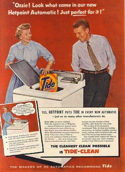 Tide Detergent Ad with Ozzie and Harriet
