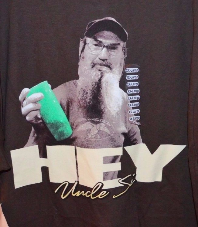 Duck Commander Uncle Si T-shirt New Size XXL Duck Dynasty HEY!! NWT  | eBay