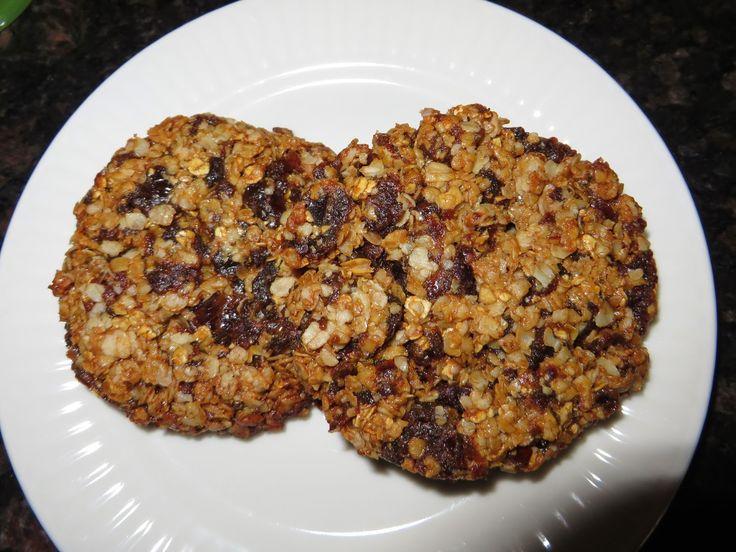 Anita's potjes en pannen: Muesli koekjes, 2 varianten. Gluten/ tarwe- en zuivelvrij.