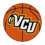 Ncaa Virginia Commonwealth University Orange 2 ft. 3 in. x 2 ft. 3 in. Round Accent Rug