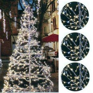 3D Spiral Tree Twinkle 2.1 Metre Warm White