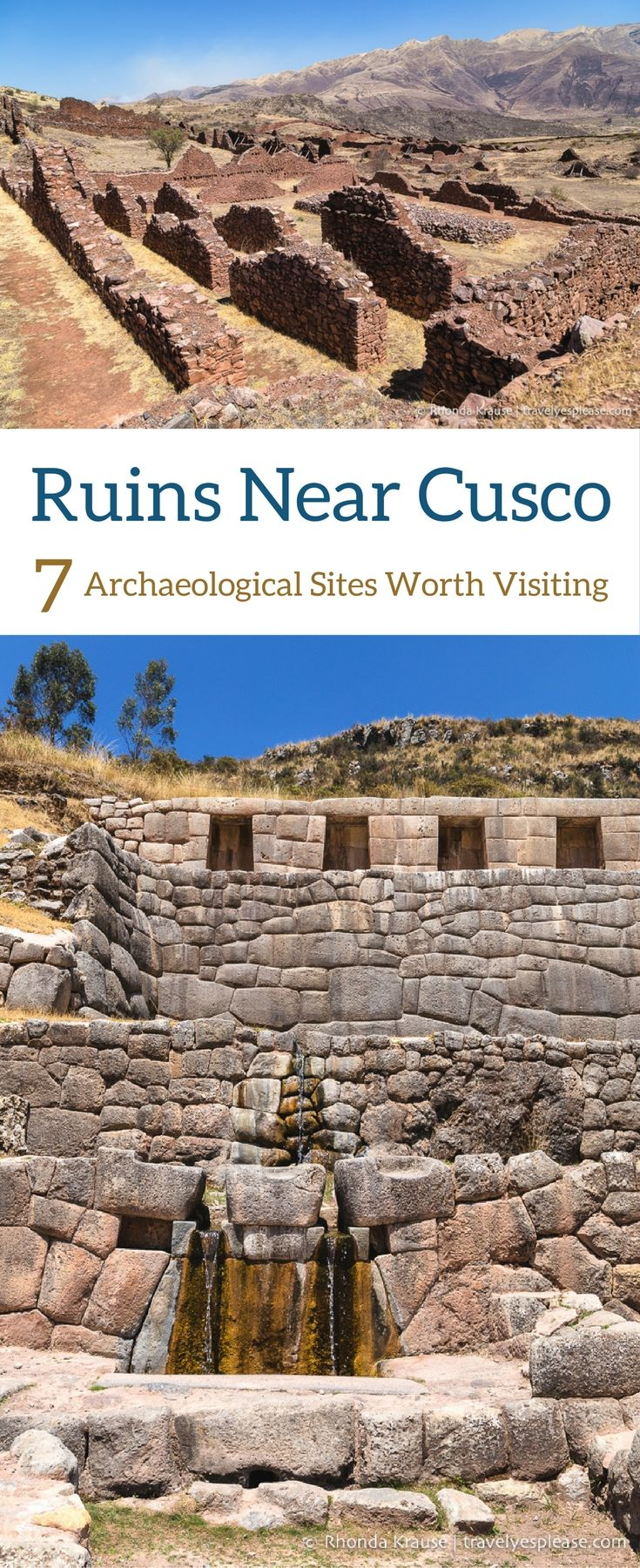 Ruins Near Cusco, Peru- 7 Archaeological Sites Worth Visiting (Blog Post, travelyesplease.com) | #Peru #Cusco #southamerica #archaeology #ruins