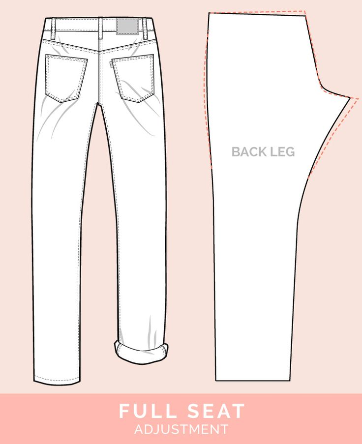 Full Seat Adjustment // 12 common jeans and pants adjustments // Closet Case Files