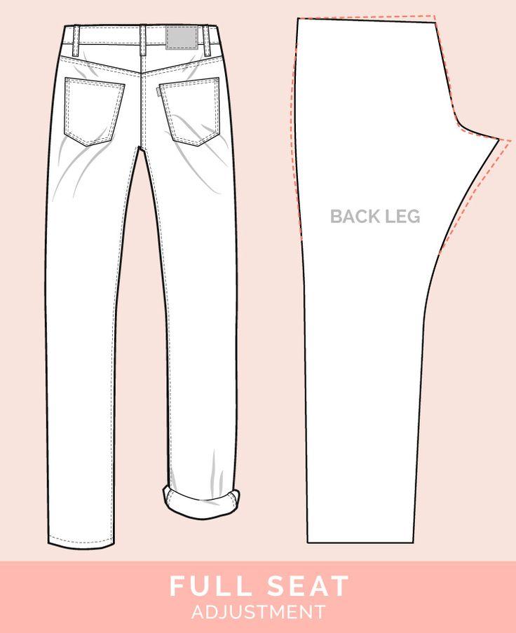 Asiento regulable en plena // 12 comunes vaqueros y pantalones ajustes // Case Files armario