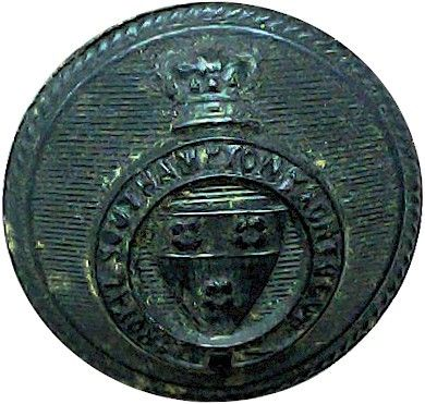 Royal Southampton Yacht Club – Roped Rim 21.5mm – Black with Queen Victoria's Crown. Horn Yacht or Boat Club jacket button