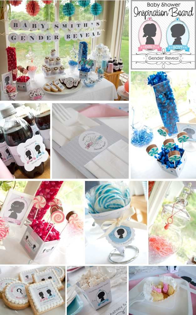 Gender Reveal Party Tips   Inspiration Board To Get The Party Started! # GenderReveal #