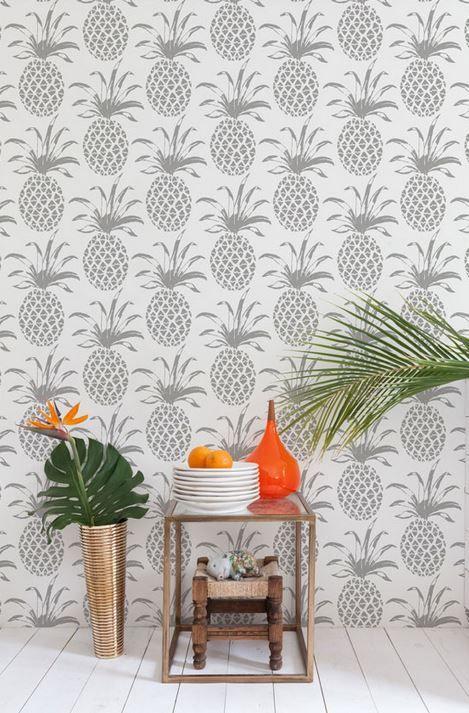 Pineapple Wallpaper Roundup   The Hawaiian Home. Best 25  Beach style wallpaper ideas on Pinterest   Beach room
