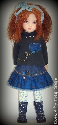 """For Dianna Effners 13"""" vinyl studio dolls on eBay by m.e.g. designs at www.couturebymegdesigns.com"""