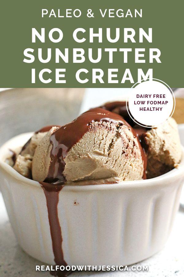 Paleo No Churn Sunbutter Ice Cream Recipe Paleo Recipes Dessert Sunbutter Real Food Recipes