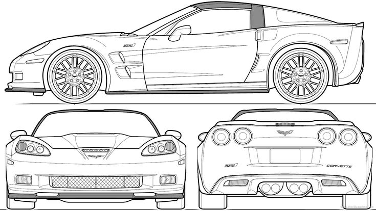 corvette c6 outline